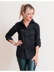 00690 Рубашка из хлопка черная