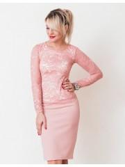 00696 Топ кружевной розовый