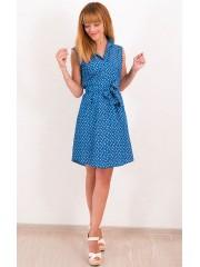 00485 Платье джинсовое синее без рукава