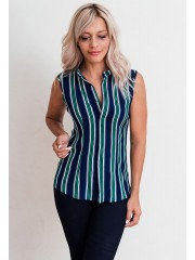 00626 Рубашка из штапеля полосатая без рукава