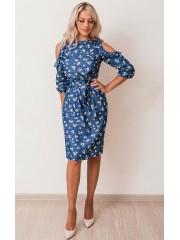 00623 Платье из легкой джинсы с ромашками