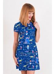 00432 Платье трикотажное с детским рисунком