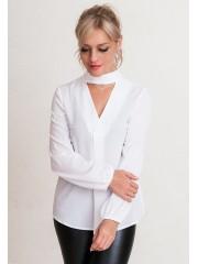 00636 Блуза из крепа белая