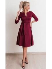 00643 Платье из Лакосты с молнией бордовое
