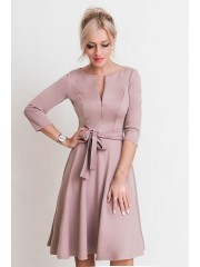 00644 Платье из Лакосты с молнией какао