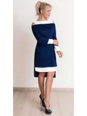 00646 Платье два в одном сине-белое