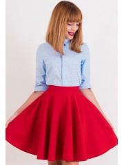 00354 Блуза из хлопка голубая с якорями
