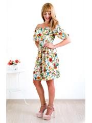00139 Платье из вискозы бежевое