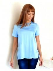 00156 Блузка шелковая голубая