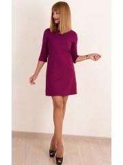 00523 Платье из фактурного трикотажа фуксия