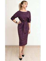 00767 Платье из трикотажа меланж сливовое