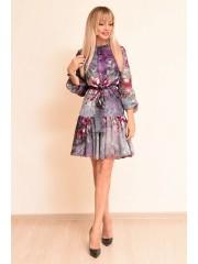 00760 Платье за французского шифона мульти