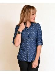 00757 Рубашка джинс с якорями
