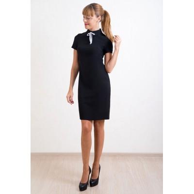 00248 Платье черное прямое