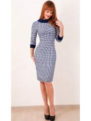 00301 Клетчатое платье из эластичной костюмной ткани