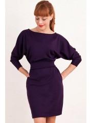 00285 Платье летучая мышь фиолетовое