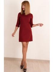 00385 Платье из трикотажа бордовое