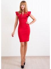 00243 Платье красное с крыльями
