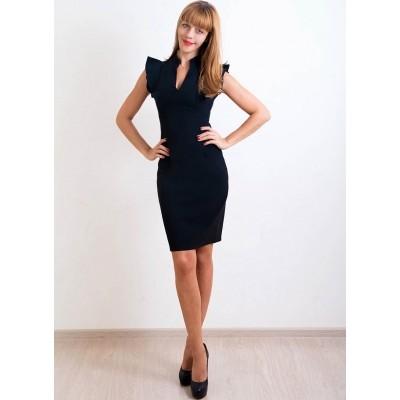 00245 Платье черное с крыльями
