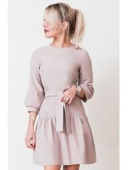 00695 Платье из костюмной ткани пудровое