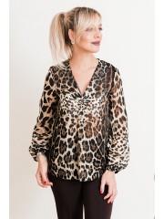 00698 Блузка  из шифона леопард