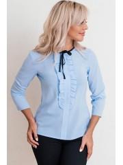 00628 Блуза голубая из шифона