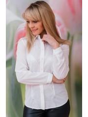 00574 Рубашка из крепа белая с кружевом