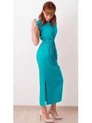 00444 Платье бирюзовый меланж летнее