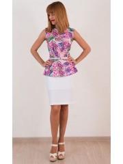 00339 Блуза розовая с баской