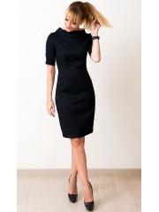 00554 Платье из жаккарда черное