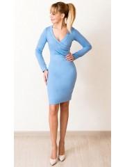 00555 Платье из Лакосты голубое с запахом