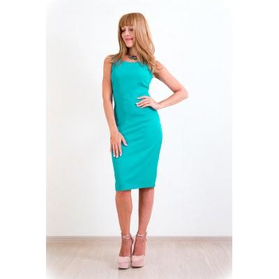 00149 Платье б/рукава цвет бирюзовый