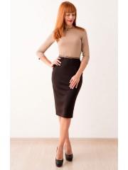 00264 Комбинированное платье из трикотажа Джерси