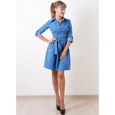 00240 Платье голубое из джинсы