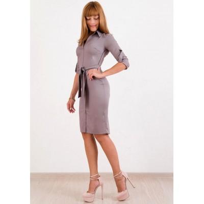 00197 Платье-рубашка какао