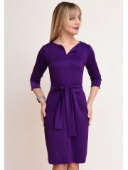 00765 Платье из трикотажа Лакоста фиолетовое