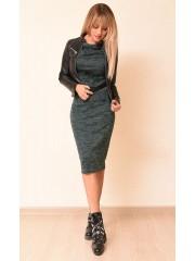 00759 Платье из трикотажа меланж