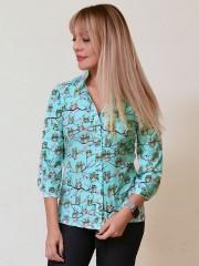 00756 Блузка из вискозы с совами